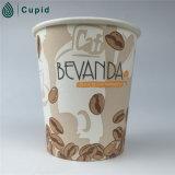 Бумажный стаканчик кофеего 8 Oz напечатанный таможней