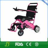Prix bon marché tout le terrain pliant le fauteuil roulant d'énergie électrique