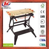 Banco de trabajo ULTRAVIOLETA de madera de goma de la pintura