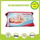 Spunlace Nonwoven alcohol libre de la piel cuidado del bebé Wet Wipes