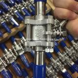 Robinet à tournant sphérique étendu de soudure de tube de JIS avec le dispositif verrouillé