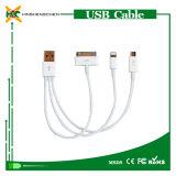 Câble de données en gros d'USB 3 en 1 câble androïde d'USB