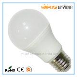 precio de fábrica 7W ningún bulbo de aluminio del plástico E27 LED del programa piloto del IC del parpadeo