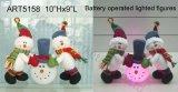 Decoración encendida B/O Light-2asst. de la Navidad del muñeco de nieve