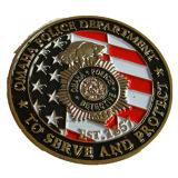 최신 금에 의하여 도금되는 경찰 동전