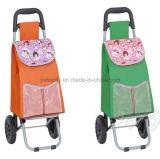 Grössere Rad-faltbare Einkaufen-Laufkatze mit Draht-Support