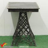 에펠 탑 철 사각 앙티크 블랙 커피 또는 탁자