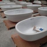 Vasca da bagno di pietra indipendente della resina della stanza da bagno di superficie solida per l'hotel