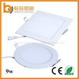 Diseño de Moda 9W ultra-delgado caliente puro / Panel de Cool White LED Light Square y Round Downlight de techo /