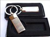 Metallunbelegter Schlüsselring mit Abnehmer-Firmenzeichen-Stich/Druck