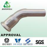 衛生ステンレス鋼45度90度の糸の肘