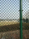 編まれた鉄条網のチェーン・リンクの塀(XA-CLF22)