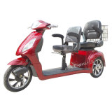 3 Disabled Wheel Electric Mobility Scooter con Double Saddles