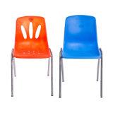 Neues Entwurfs-lebendes Stuhl-Chrom-Bein-preiswerter speisender Plastikstuhl
