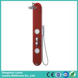 Coluna do chuveiro do vidro de segurança com cor vermelha da forma (LT-B721)