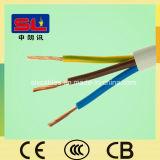 Fil de cuivre flexible isolé par PVC de cable électrique de 3 noyaux