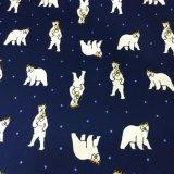 tela impresa franela 100%Cotton para los pijamas de las señoras