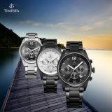 クロノグラフの贅沢な鋼鉄人はアナログの水晶腕時計72182を見る