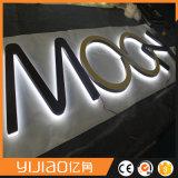 Освещенный акриловый освещенный контржурным светом 3D знак логоса