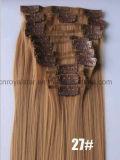 Prolonge de cheveu de clip de jeux du Hairpiece 12 de fibre synthétique de température élevée