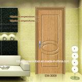 4. Porte intérieure en bois de chambre à coucher en plastique en bois bon marché de la CE