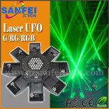 Свет выставки лазера этапа UFO лазерного луча