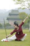 Ropa Relaxed acogedora china del collar oblicuo del resorte de la ji del Tai del Taoism y del lino del verano