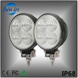 3 rundes LED Arbeits-Licht des Zoll-12W für LKWas Offroads Suvs Utvs