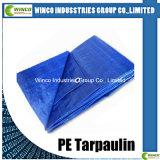 Les tissus tissés par HDPE bleu de bâche de protection de PE les deux LDPE de côté ont feuilleté la bâche de protection matérielle neuve de PE de 100%