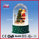 Rotes House Snowing Christmas Decoration mit Transparent Fall