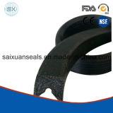 Sello de embalaje hidráulico del caucho FKM PTFE V de NBR/Nitrile-Butadiene