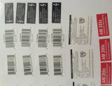 De Streepjescode van de Druk van Cmyk en het Zelfklevende Etiket van de Sticker
