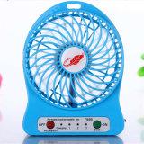 Портативный электрический вентилятор USB сильного ветера с светом СИД