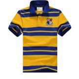 Form-Garn gefärbtes Streifen-Polo-Hemd der kundenspezifischen Männer