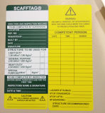 Sostenedor plástico de la etiqueta de /PP /PVC Scafftag del ABS