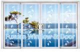 Finestra di scivolamento di alluminio decorativa con il vetro Tempered di arte