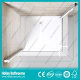 Vidro à terra de portas dobro da porta do pivô que vende a porta simples do chuveiro (SE703H)