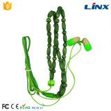 方法よい音質のセリウムのRoHSによって編まれるワイヤーで縛られたネックレスの木製のジッパーのイヤホーン