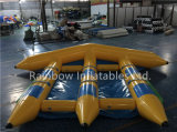 De draagbare Opblaasbare Spelen van de Buis van de Boot van de Banaan van het Stuk speelgoed van het Water van de Vissen van de Vlieg Opblaasbare