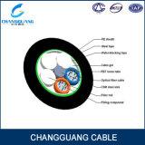 Cable óptico acorazado GYTA/S de fibra de la base del solo modo 24