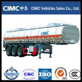 Cimc 3 Öltanker der Wellen-40m3/Kraftstoff-Tanker-halb Schlussteil