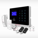 Sistema de alarme de intrusão GSM sem fio com menu RFID e LCD