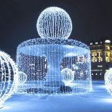خارجيّة [لد] عيد ميلاد المسيح زخرفيّة نافورة ضوء