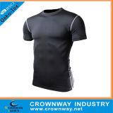 Mann-Sport trägt schnelles Dri T-Shirt mit kundenspezifischem Firmenzeichen-Drucken