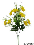 Artificiale/Plastic/Silk Flower Single Stem di Daisy con 5 Branches (XF29013)