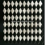 Rhombus Full Body Glass Mosaic con Black y White Color