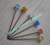 Color 장식적인 38mm Clear Diamond Head Pin