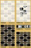 Azulejo de suelo de cerámica blanco y negro de la pared