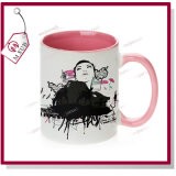 Sublimation Inner und Handle Color Ceramic Mug 11oz