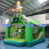 Shooting Game Inflatable Jumper Castle Inflatable Bouncer를 위한 팽창식 Jump Bed